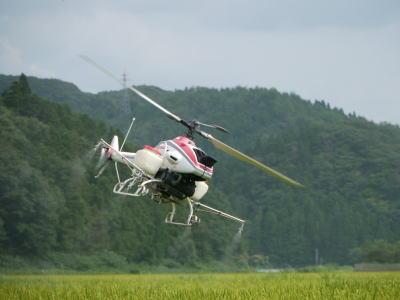 ドローン資格・免許のミライズドローンスクール 農薬散布ヘリコプター