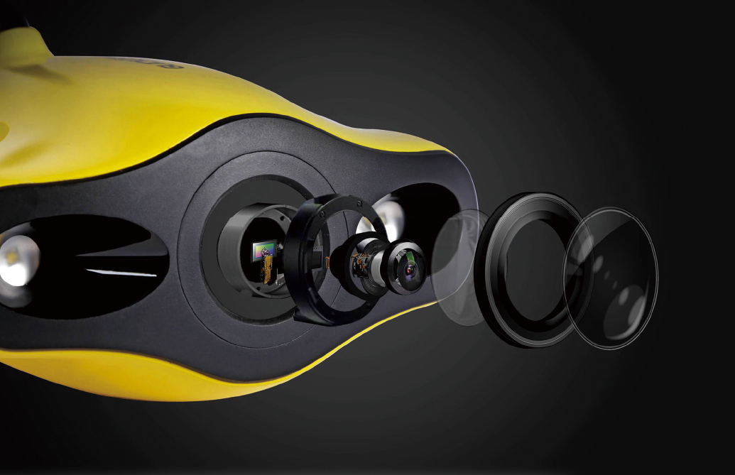 mini GRADIUS 1200lmのLEDライトと、1200万画素の4K Ultra-HDカメラ搭載